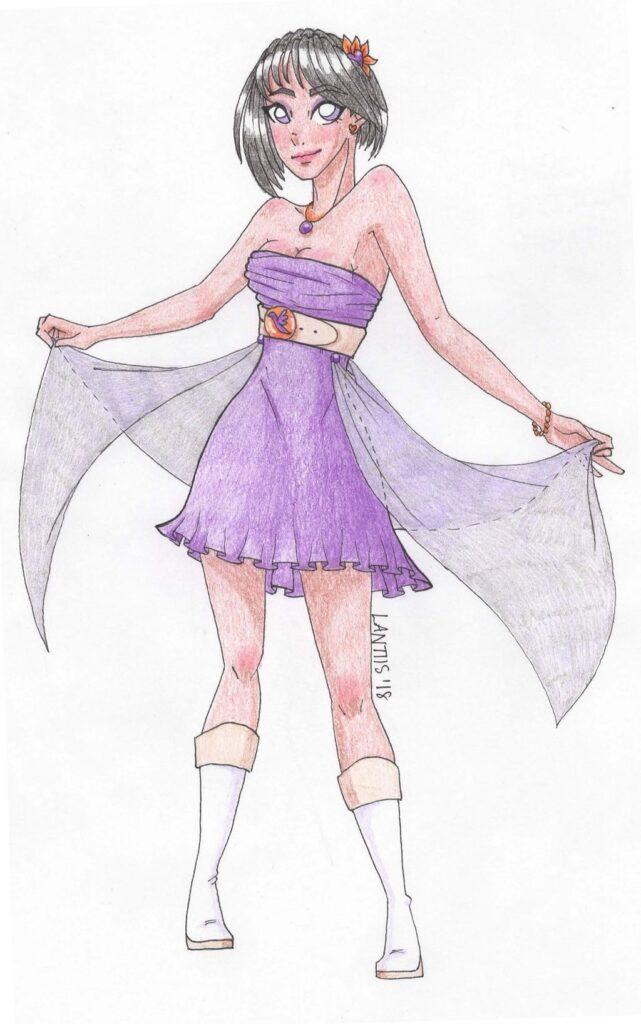 Celeste in a Dress